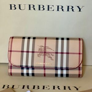 Burberry Haymarket Harris Envelope Wallet